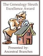 Ancestral Branches Genealogy Sleuth Excellence Award
